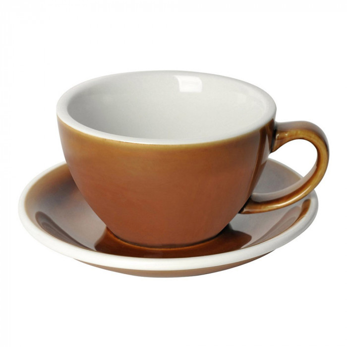 "Café Latte cup with a saucer Loveramics ""Egg Caramel"", 300 ml"