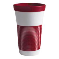 "Mug with a lid Kahla ""Cupit To Go Dark Cherry"", 470 ml"