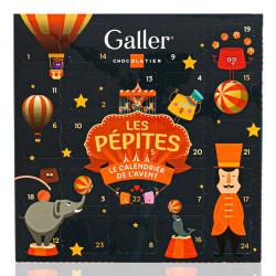 "Adventkalender mit Pralinen Galler ""Les Pépites"", 24 Stk."