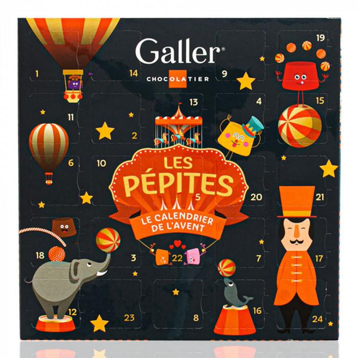 "Advent calendar with chocolate candies Galler ""Les Pépites ..."