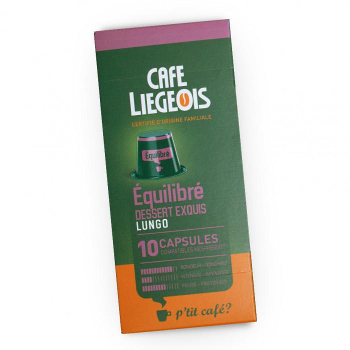 """Kafijas kapsulas Café Liégeois """"Equilibre"""", 10 gab."""