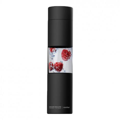 """Wasserflasche Asobu """"Flavour U See Black"""", 430 ml"""