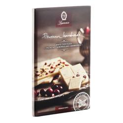 """Weiße Schokolade mit Pistazien, Mandeln und Cranberries """"Laurence"""", 85 g"""