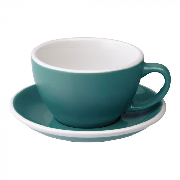 "Café Latte Tasse mit Untertasse Loveramics ""Egg Teal"", 300 ml"