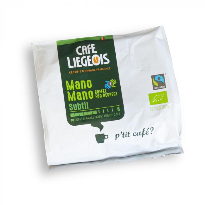 """Kafijas spilventiņi Café Liégeois """"Mano Mano Subtil"""", 18 gab."""