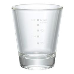 Graded espresso shot glass, 80 ml