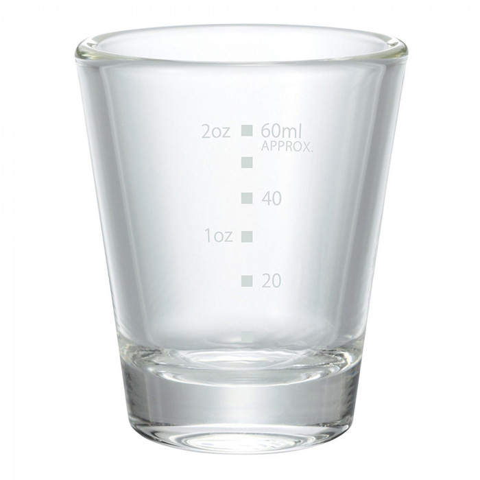 Graded espresso shot glass, 80 ml