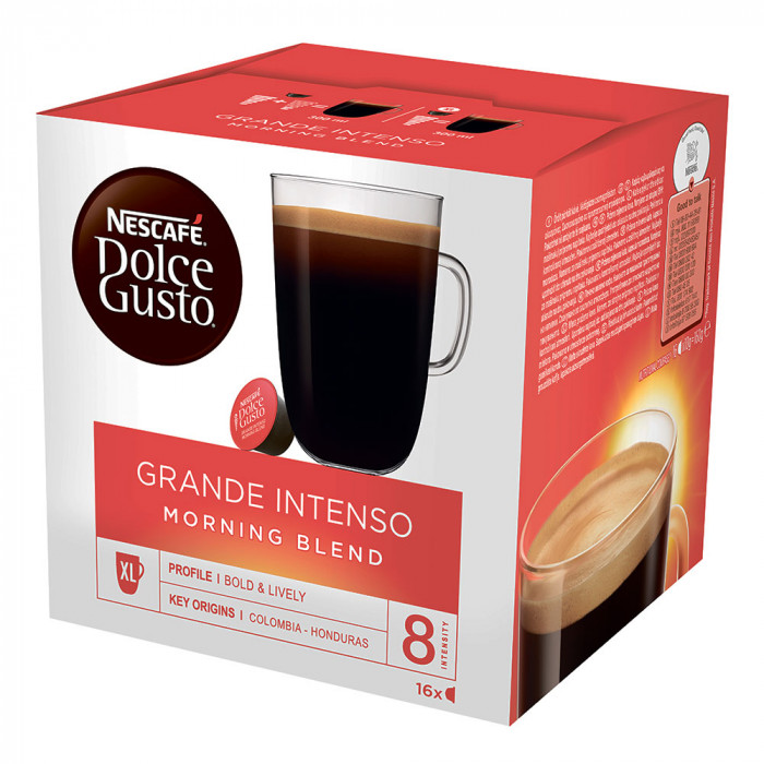 "Coffee capsules NESCAFÉ Dolce Gusto ""Grande Intenso Morning Blend"", 16 pcs."