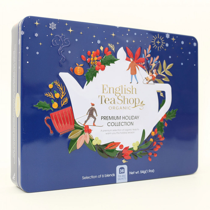 "Tee English Tea Shop ""Premium Holiday Collection North Star – Blue Gift Tin"""