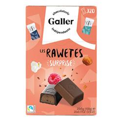 """Pralinen Set Galler """"Les Rawetes – Surprise"""",  20 Stk. (100 g)"""