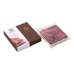 """Maitosuklaa Laurence """"Golden Milk Chocolate with Strawberries"""", 100 g"""