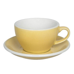 "Cappuccino cup with a saucer Loveramics ""Egg Butter"", 200 ml"