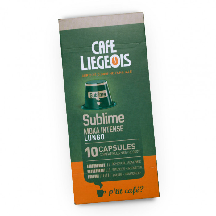 "Coffee capsules Café Liégeois ""Sublime"", 10 pcs."