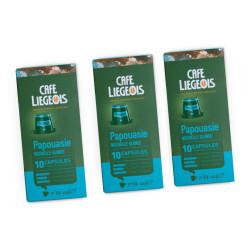 """Kawa w kapsułkach do Nespresso® NESPRESSO Café Liégeois """"Papouasie"""", 3 x 10 szt."""