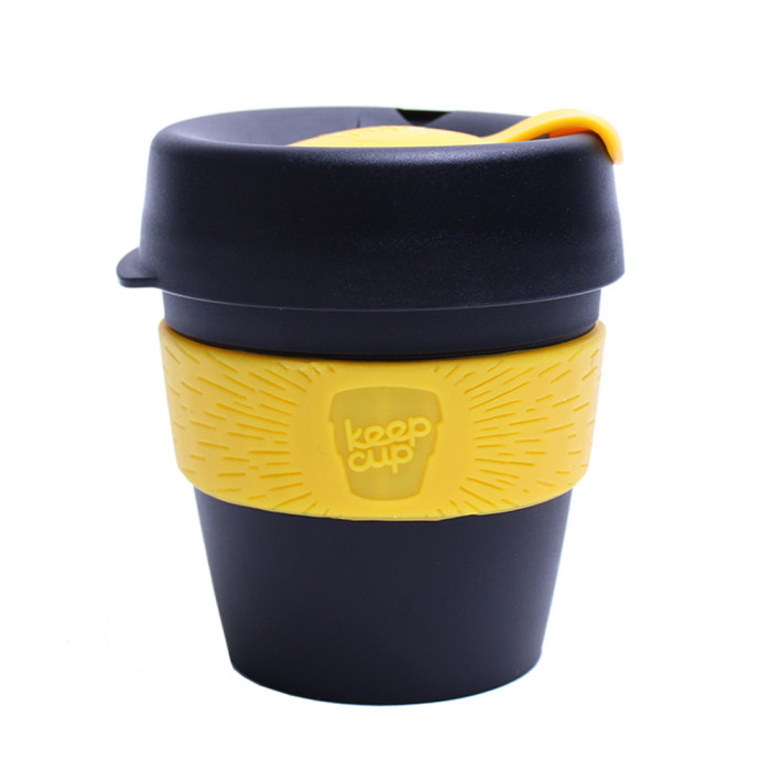 "Coffee cup KeepCup ""Black/Yellow"", 227 ml"