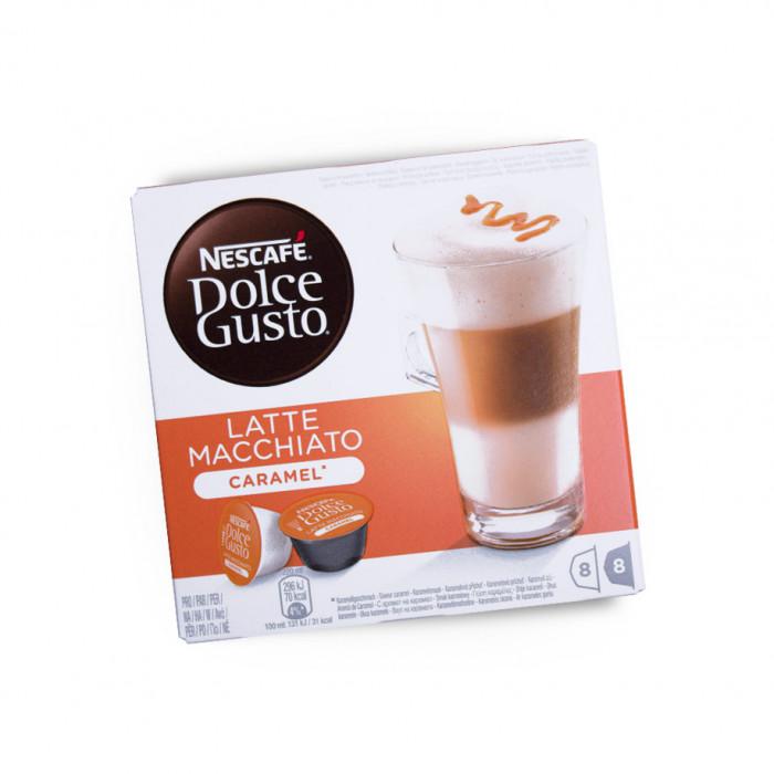 """Kawa w kapsułkach NESCAFÉ Dolce Gusto """"Caramel Latte Macchiato"""", 8×8 szt."""