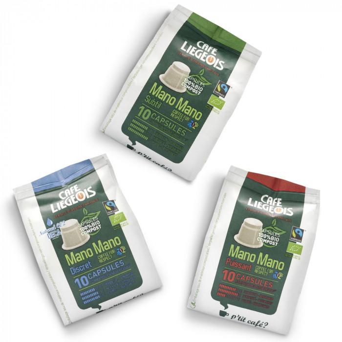 Coffee capsules set Café Liégeois