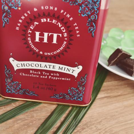 """Melnā aromātiskā tēja Harney & Sons """"Chocolate Mint"""", 20 gab."""