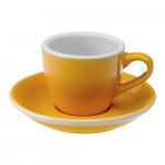 """Espresso krūzīte ar apakštasīti """"Egg Yellow"""", 80 ml"""