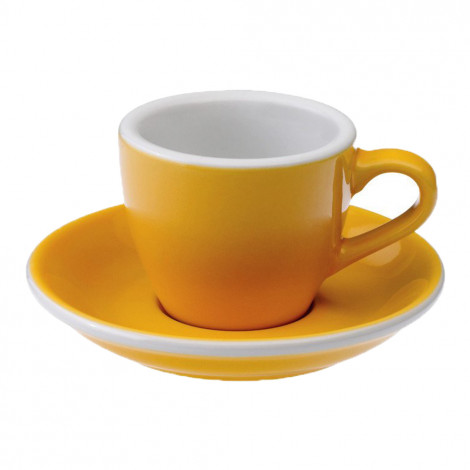 """Espresso cup with a saucer Loveramics """"Egg Yellow"""", 80 ml"""
