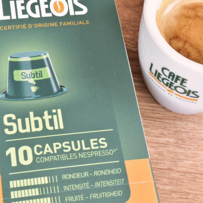 """Kaffeekapseln Café Liégeois """"Subtil"""", 10 Stk."""