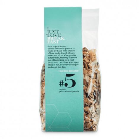 """Luomu granola, pekaanipähkinä ja manteli IJLB """"#5"""", 250 g"""
