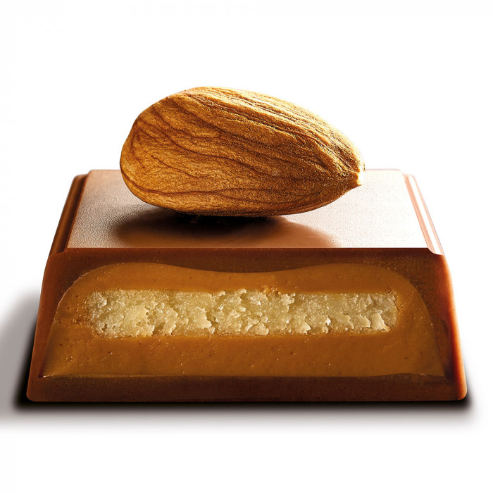"Šokolādes batoniņš Galler ""Milk Marzipan"", 70 g"