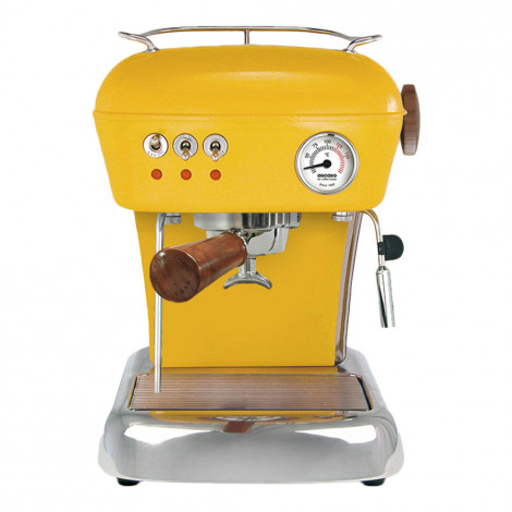 "Kaffeemaschine Ascaso ""Dream Zero Yellow mit Holzapplikationen"""