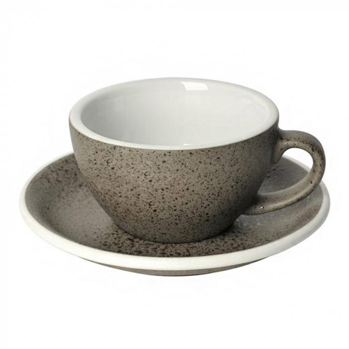 "Cappuccino cup with a saucer Loveramics ""Egg Granite"", 200 ml"