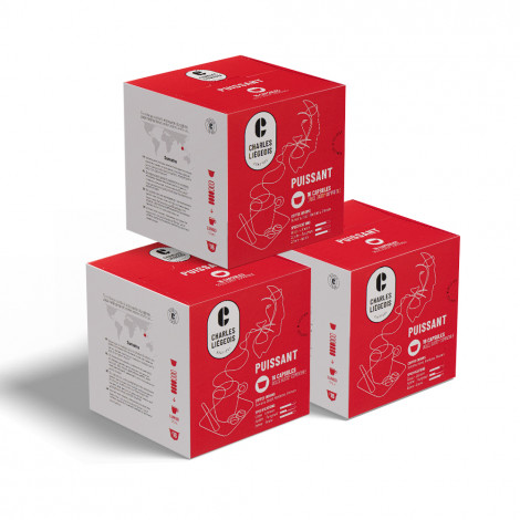"""Coffee capsules compatible with Dolce Gusto® set Charles Liégeois """"Puissant"""", 3 x 16 pcs."""