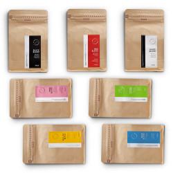 """Zestaw kawy ziarnistej Coffee Journey  """"Zestaw na bogato – 7x250g"""", 1,75 kg"""
