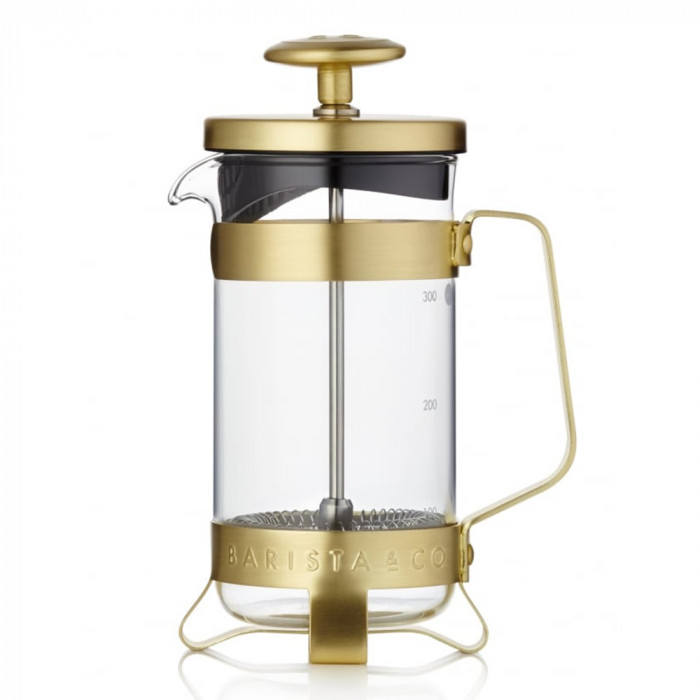 "Kawiarka FrenchPress Barista & Co ""Gold"", 3 kubki"