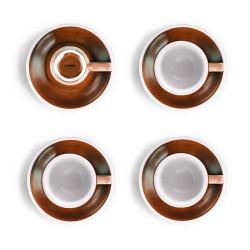 """Set von 4 Espressotassen mit Untertassen Loveramics """"Egg Caramel"""", 80 ml 4 Stk."""