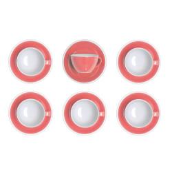 """Set von Cappuccino-Tasse mit Untertasse Loveramics """"Egg Berry"""", 200 ml, 6 Stk."""