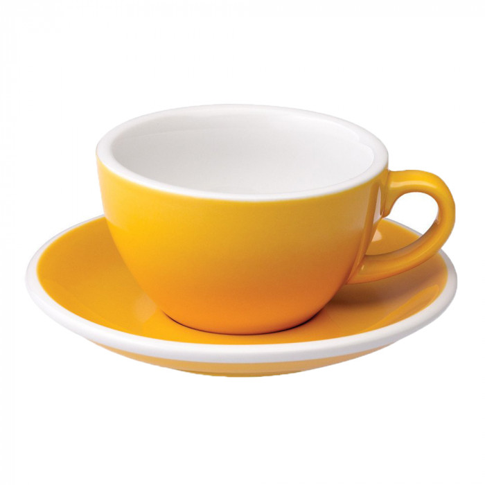 "Cappuccino cup with a saucer Loveramics ""Egg Yellow"", 200 ml"