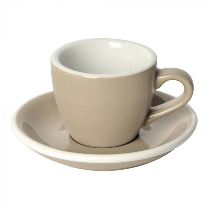 "Espresso cup with a saucer Loveramics ""Egg Taupe"", 80 ml"