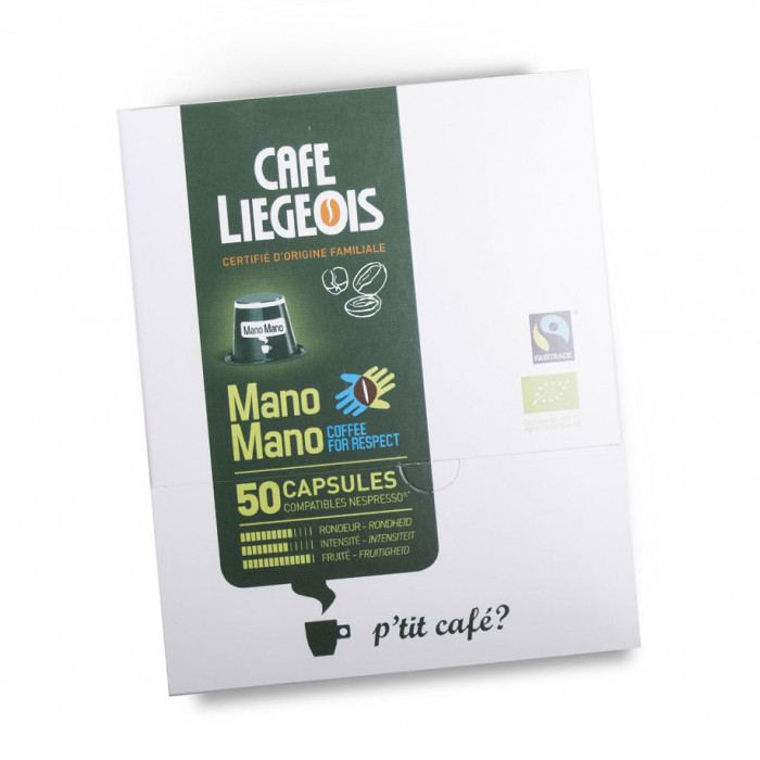 "Coffee capsules Café Liégeois ""Mano Mano"", 50 pcs."