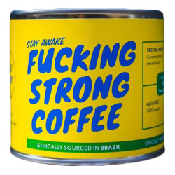"Coffee beans Fucking Strong Coffee ""Brazil"", 250 g"