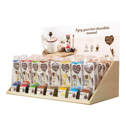 Hot chocolate set with wooden stand MoMe