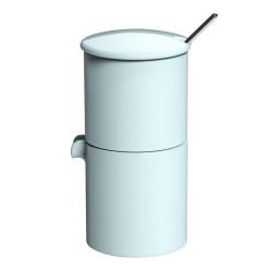 """Cukurtrauks kopā ar saldā krējuma trauku Loveramics """"Bond River blue"""", 90 ml"""