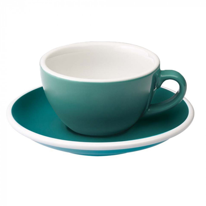 flat white tasse mit einer untertasse loveramics egg teal. Black Bedroom Furniture Sets. Home Design Ideas