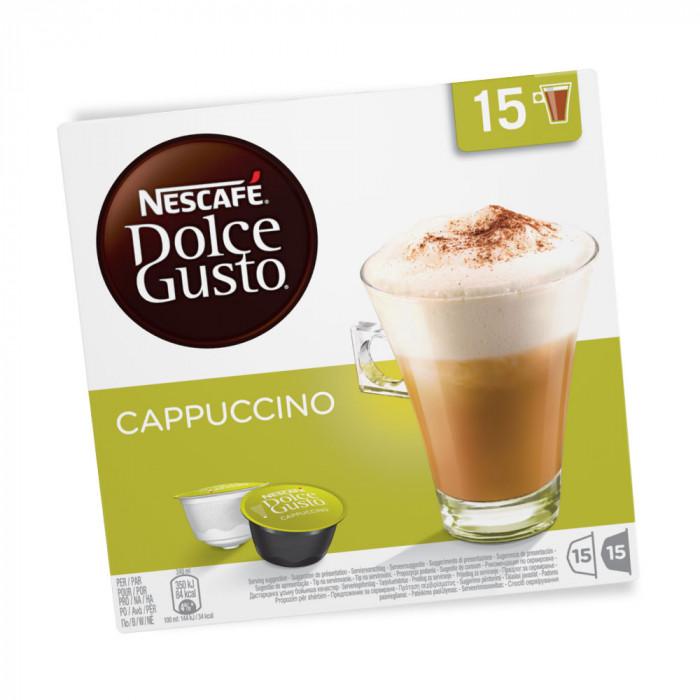 """Kawa w kapsułkach NESCAFÉ Dolce Gusto """"Cappuccino"""", 15×15 szt."""