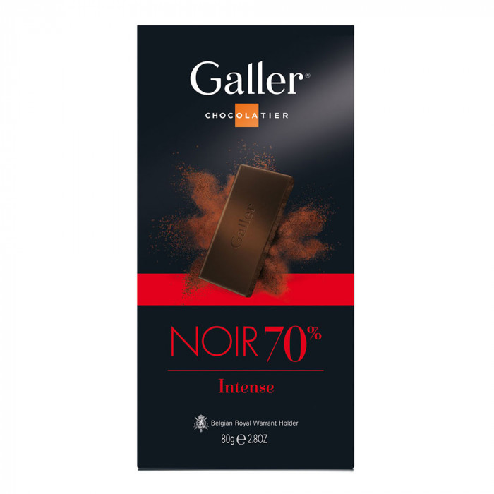 "Šokolaaditahvel Galler ""Dark 70%"", 80 g"