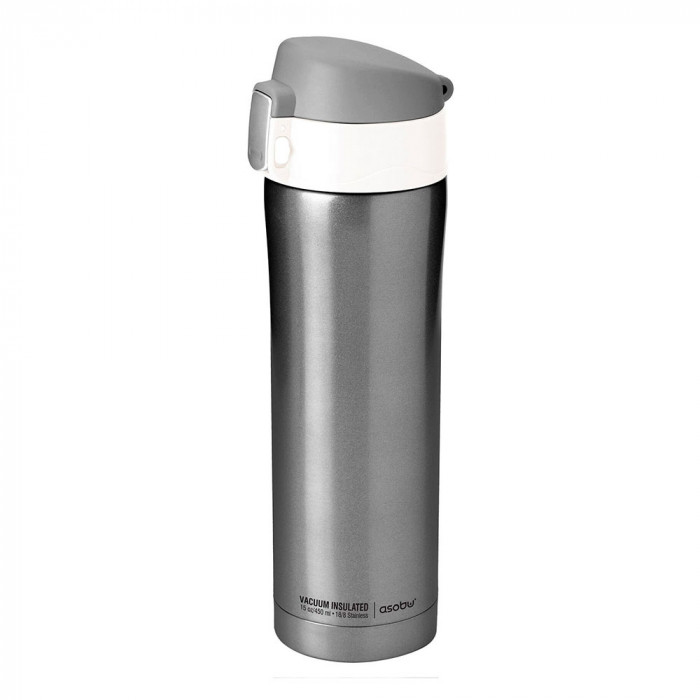 "Thermo bottle Asobu ""Diva V600 Smoke/White"", 450 ml"