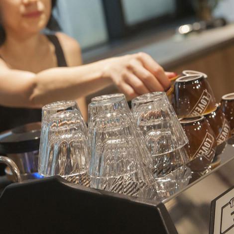 "Twisted cappuccino glass Loveramics ""Urban Glass"" (Clear), 180 ml"