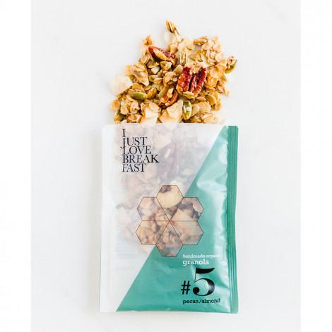 """Ekologiška granola su pekano riešutais ir migdolais IJLB """"#5"""", 40 g"""
