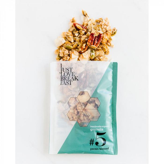 """Luomu granola, pekaanipähkinä ja manteli IJLB """"#5"""", 40 g"""