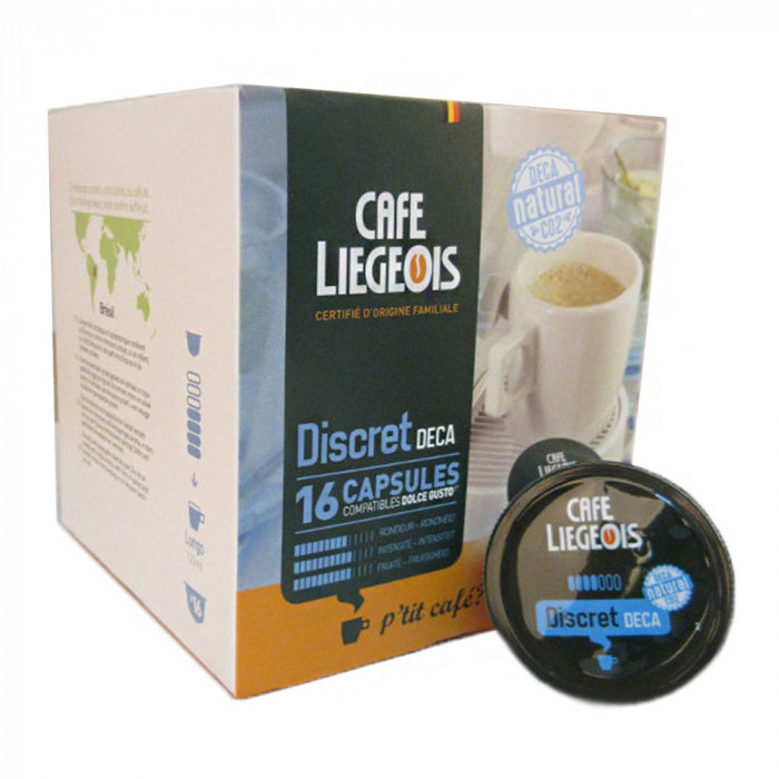 "Kahvikapselit Café Liégeois ""Discret Deca"", 16 kpl."