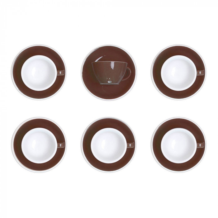 "Latte cup with a saucer Loveramics ""Egg Brown"", 300 ml, 6 pcs."