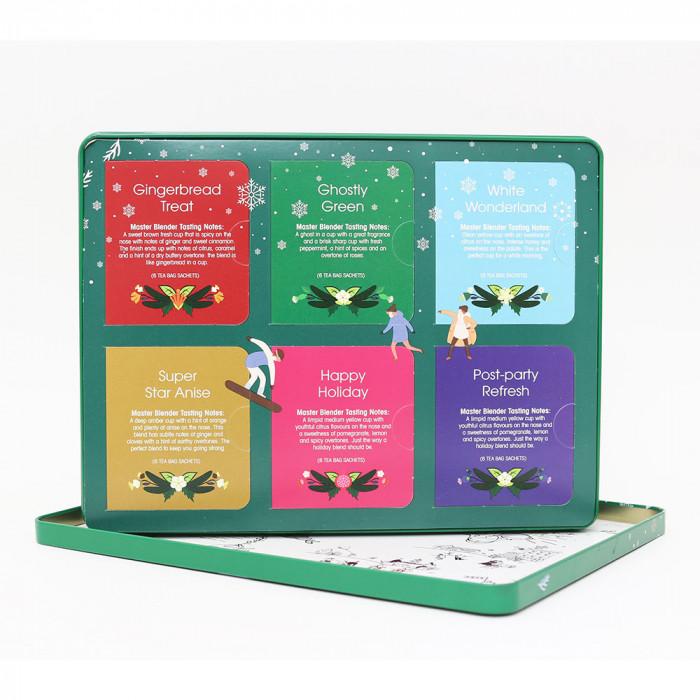 "Tee English Tea Shop ""Premium Holiday Collection Green Gift Tin – 36ct"""